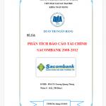 Luận văn thạc sĩ phân tích tài chính ngân hàng thương mại CP Sacombank