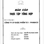 Báo cáo thực tập tại công ty cổ phần dược phẩm TW 1- PHABACO